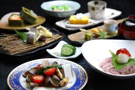 ryokan: Japanese Cuisine Stock Photo
