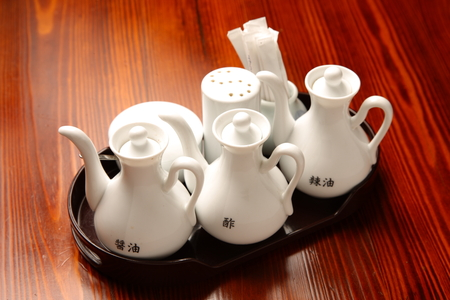 sauce bottle: Chinese vinegar and soy sauce bottle Stock Photo
