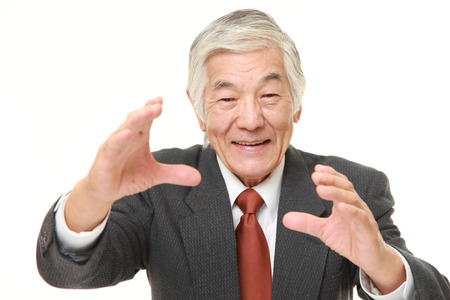 supernatural power: senior Japanese businessman with supernatural power