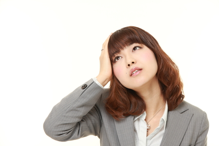 young Japanese businesswoman has lost her memory