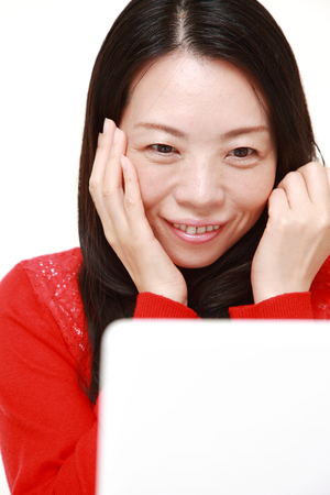satisfactory: Japanese woman with good condition skin