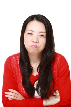 bad mood: Japanese woman in a bad mood