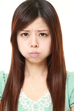 light hair: angry young Japanese woman