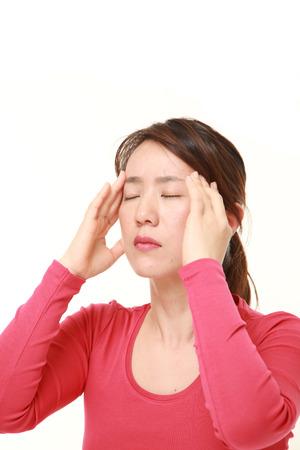 eyestrain: Japanese woman suffers from headache