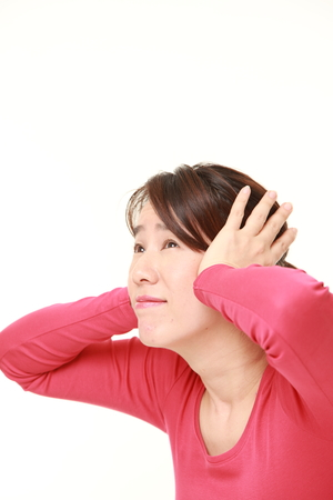 suffers: Japanese woman suffers from noise