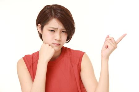 dudando: joven dudar mujer japonesa
