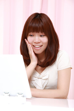 satisfactory: young Japanese woman with good condition skin