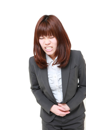 defecation: Japanese businesswoman suffers from stomachache