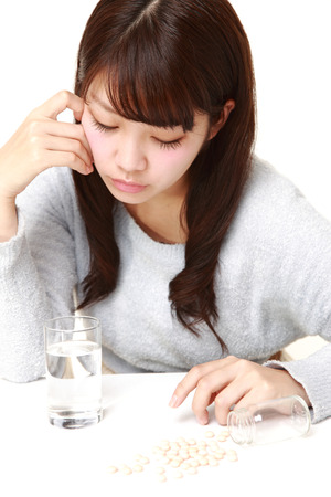 upper floor: young Japanese woman suffers from melancholy