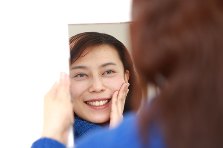 Asian woman with good condition skin