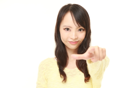 decided: young Japanese woman decided Stock Photo