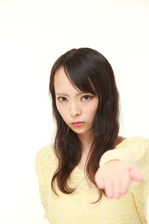 denunciation: angry young Japanese woman requests something