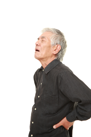lumbago: senior Japanese man suffers from lumbago