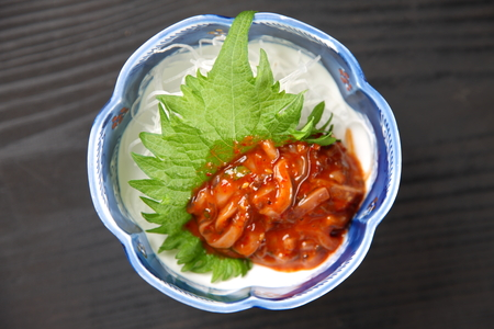 studio shot of Korean Salted Squid on black background