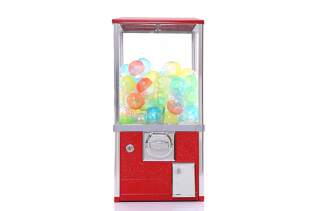 capsule toy vending machine isolated on white