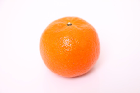 close up shot of orange fruit citrus tankan against white background
