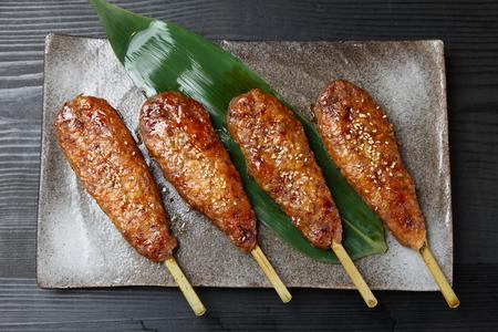 tea duck Tsukune meatballs skewers