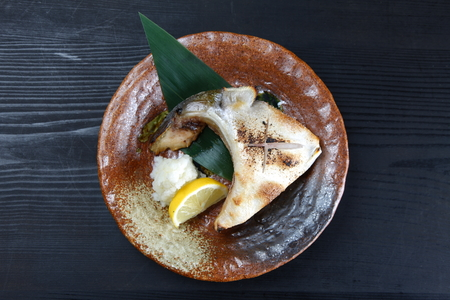 grilled yellowtail collar