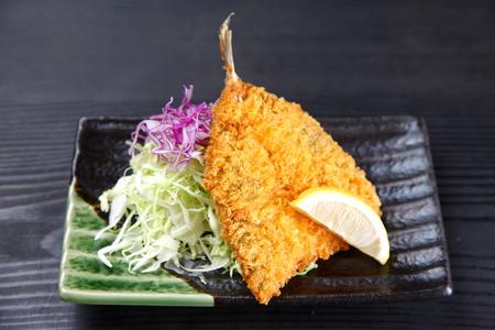 deep-fried horse mackerel Stock Photo