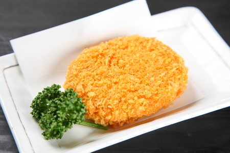 close up shot of Japanese style croquette