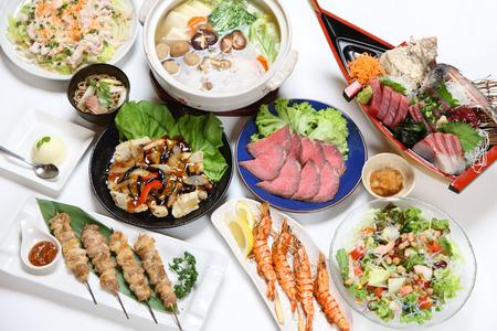 Platos de comida asiática