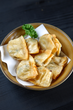Deep-fried Chinese dumplings