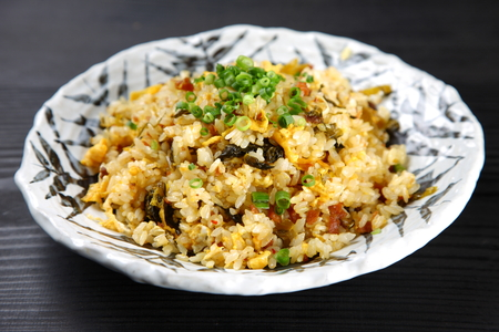 Minced meat fried rice Фото со стока