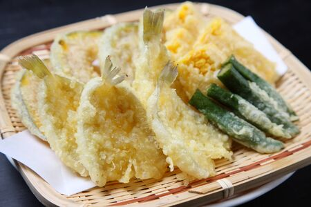 seasonal tempura assorted plate
