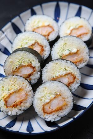 shrimp cutlet sushi rolls
