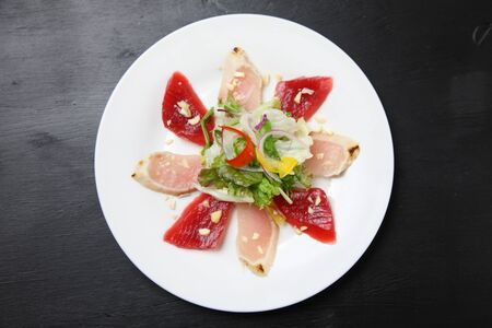 two kinds of tuna carpaccio