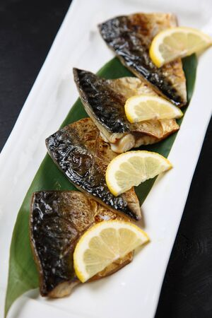 broil mackerel with salt