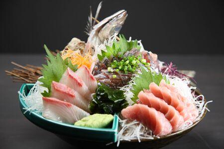 seasonal sashimi plate