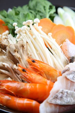 sea food sumo wrestler hot pot Archivio Fotografico
