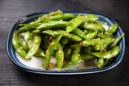 Green soybeans with garlic sauce