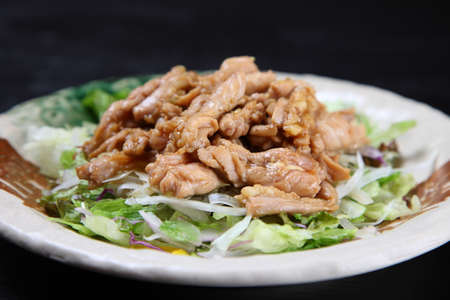pan fried chicken neck meat