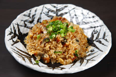 eel fried rice with small onion