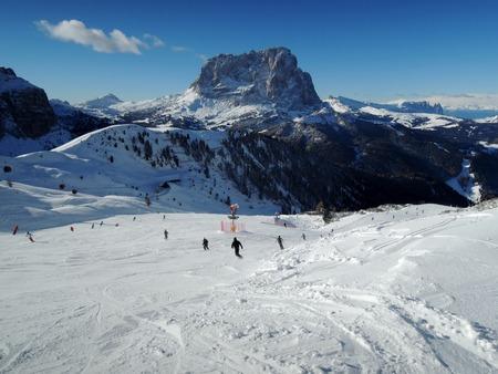 sella: ski slope in Alba Badia resort - Dolomiti Superski