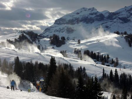 sella: Snow Cannons in Alta Badia resort - Sella Ronda - Italian Alps - Dolomiti Superski