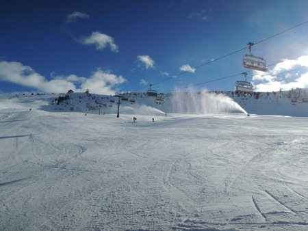 sella: Ski Slope with lift in Alta Badia resort - Sella Ronda - Italian Alps - Dolomiti Superski