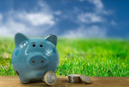save money concept - a piggy bank