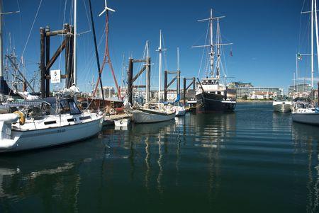 El verano en el puerto de Victoria, Columbia Británica Foto de archivo - 3507081