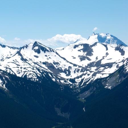 Cumbre de Whistler Mountain en verano Foto de archivo - 3508941