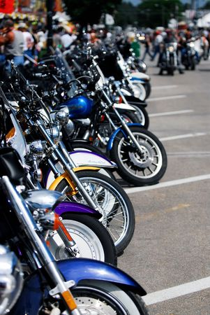Custom motorcycles at Sturgis motorcycle Rally in South Dakota, USA