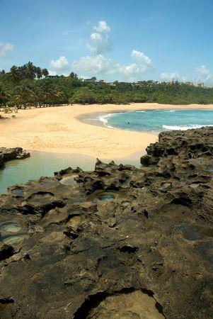 Mar Chiquita Cove y Cueva de las Golondrianas en Puerto Rico Foto de archivo - 3509472
