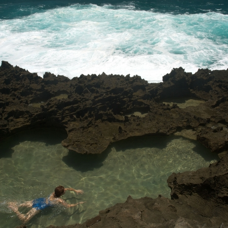 Mar Chiquita Cove y Cueva de las Golondrianas en Puerto Rico  Foto de archivo - 3496809