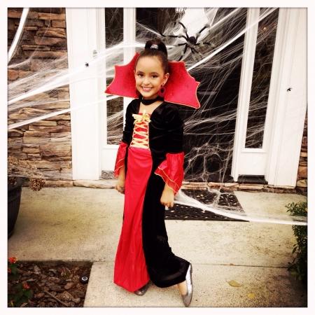 Little girl dressed up for Halloween 2013 Stock Photo