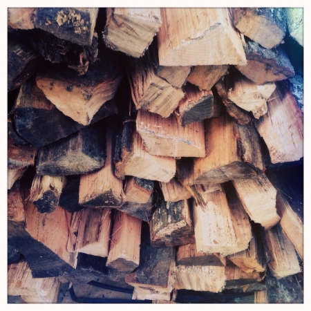 Firewood stacks
