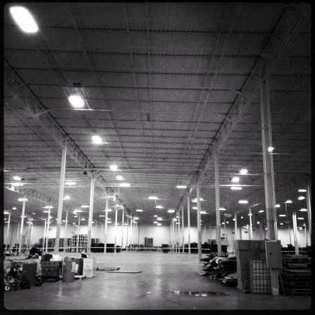 Warehouse interior Zdjęcie Seryjne