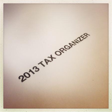 2013 tax organizer