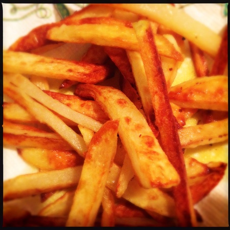 Close up if French fries